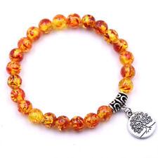 Handmade Women Men Bracelet Jewelry Nature Stone Bead Tree of Life Tag Bracelets