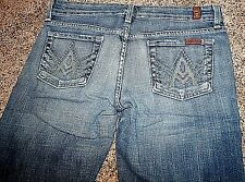 Rare 7 FOR ALL MANKiND Earth Green Crystal A Pocket MNXE crop jeans shorts 27 4