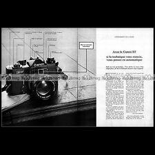 CANON EF APPAREIL PHOTO REFLEX 24X36 1975 - Pub Publicité / Ad Advert #A1526.AB