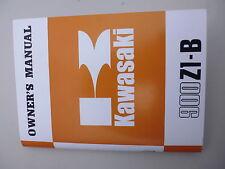 KAWASAKI z1b Owners Manual Libro De Mano