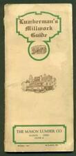 1927 LUMBERMAN MILLWORK GUIDE MASON LUMBER Co. MASON OH, ARCHITECTURE CATALOG