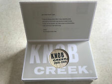 Knob Creek Bourbon 2000-2009 Barrel Bung Plug Cork In Commemorative Box