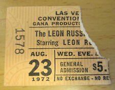 1972 LEON RUSSELL AND THE SHELTER PEOPLE LAS VEGAS CONCERT TICKET SHINE A LIGHT
