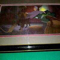 LADY AND THE TRAMP, AUNT SARAH, TRAMP AND RAT CELS ON KEY COPY PAN BG, FRAMED
