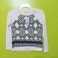 NWT Women's Jolt Silk Panel Knit Sweater Top Size Medium