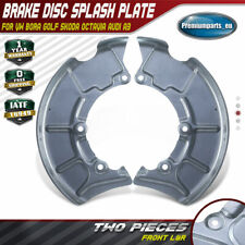 2x Front Brake Disc Splash Plate for VW Bora Golf  IV Audi A3 Skoda Octavia 1U