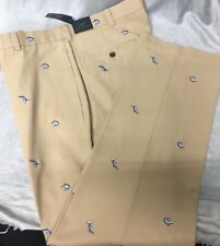 BROOKS BROTHERS 346 Khaki Cotton Marlin Embroidered Chinos Size 38 x 32 NWT