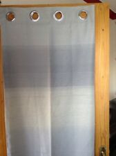 "1 Only Lined Eyelet Curtain In Grey With Faint Lines 46"" X 72"""