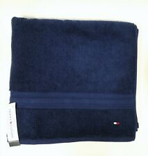 NEW TOMMY HILFIGER CLASSIC SOLID NAVY BLUE BATH TOWEL