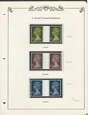 Great Britain Collection of Machin Mint NH Pairs, MH169, MH175, MH176