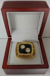 Bryan Trottier - 1992 Pittsburgh Penguins Stanley Cup Ring WITH Wooden Box