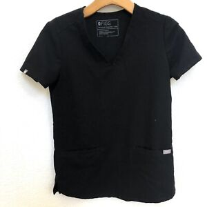 FIGS Technical Collection Women's CASMA Scrub Tops Size XXSMALL Black