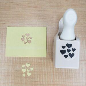 Martha Stewart Hearts Confetti Double Punch Edge Scrapbook Craft Valentine