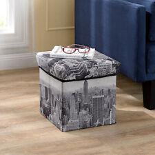 en.casa® Sitzhocker New York 30x30x30cm Sitzwürfel Aufbewahrungsbox Hocker Truhe