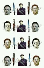 Michael Myers nail art (water decals) Horror Film nail decals