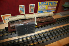 Lionel O gauge 3 flat cars with Logs # 26713 Brand New Westren Maryland Mint