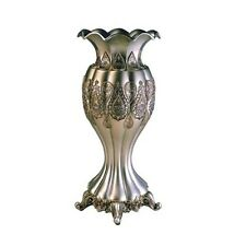 "ORE Furniture 15.75"" H Traditional Royal Silver & Gold Metalic Decorative Vase-"