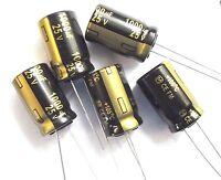 1000uf 25v 105c Low ESR  Size 20mmx12.5mm Panasonic EEUFM1E102  x5pcs