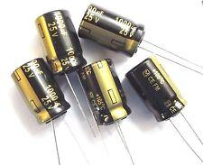 1000uf 25v 105c baja ESR tamaño 20mmx12.5mm Panasonic EEUFM 1E102 x5 un.