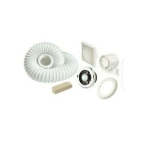 """Manrose Bathroom Extractor Fan Kit 100mm 4"""" In-Line Shower-Lite Light Fan"""