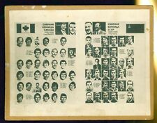 1972 Summit Series Canada/USSR Teams Photo Collage on cardboard RARE