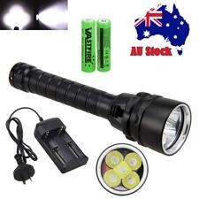 Waterproof 20000lm Scuba Diving 5x Xm-l T6 LED UV White Flashlight Light 2x18650 C Only 4*18650