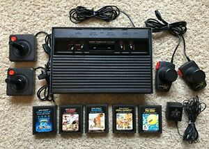 Atari 2600 Console + Games & Controllers - Tested & Works