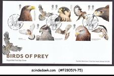 Great Britain - 2019 Birds Of Prey Eagle Falcon Hawk 10V - Fdc