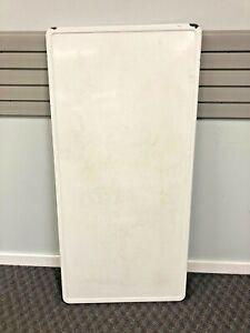 Vintage ENAMEL TABLE TOP hoosier porcelain White country granite cabinet LARGE