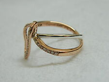Clogau Silver & 9ct Welsh Gold Second Sight Diamond Ring size J