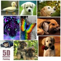 5D Pet Dog Cat Animals Design Full Drill Diamond DIY Cross Stitch Embroidery Kit