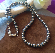 Navajo Pearls Necklace Long Strand #115