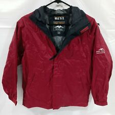 Pacific Trail Pac Tech Performance Hydro Vent Waterproof Jacket Youth Medium Red