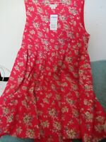 JoJo Maman Bebe Girls Size 16 Red Floral Dress
