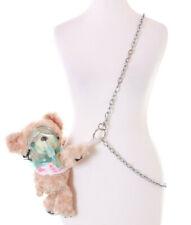 LB-235 Beige Teddy Bear Injured Bandage Mask Plush Bag Lolita Pastel Gothic