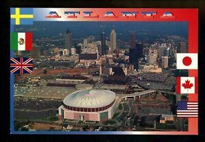 Olympics postcard Centennial Olympic Games Atlanta 1996 GA Georgia Dome skyline