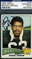 GENE UPSHAW SIGNED PSA/DNA 1975 TOPPS AUTOGRAPH AUTHENTIC