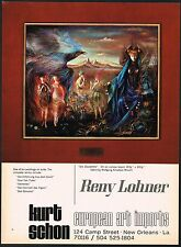 1970s Vintage Reny Lohner Die Zaubeflote European Imports Art Gallery Print AD
