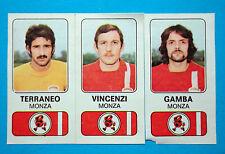 CALCIATORI PANINI 1976-77-Figurina-Sticker n. 404 -TERRANEO#VINCENZ...MONZA -Rec