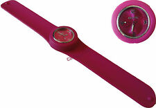MONTRE ADULTE FEMME ICE BRACELET SILICONE SLAP FUCHSIA WATCH