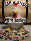 120 Multi Colored LEG BANDS (ONE) size fits (ALL) POULTRY Chicken Duck Turkey