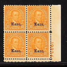 668   10c  KANSAS OVER PRINT M OG LH VF/XF