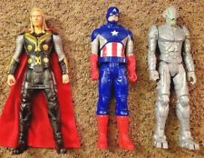 "Captain America + Thor + Ultron 12"" Marvel Avengers Action Figure Set Lot"