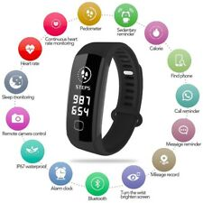 Fitness Activity Tracker Watch Real Time Heart Rate Sleep Monitor Smart Bracelet