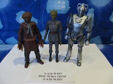 DR DOCTOR WHO CYBERMAN - SILURIAN WORRIER - SCARECROW  FIGURES BUNDLE JOB LOT