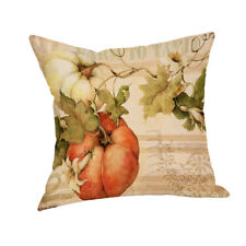 Happy Fall Thanksgiving Day Linen Turkey Pillow Case Cushion Cover Decor Home