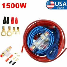 New listing 1500W 8Ga Car Audio Cable Wiring Kit Amp Amplifier Install Rca Subwoofer Sub Usa