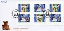 FAR Oer delle isole Fær Øer 2017 FDC CASTELLI EUROPA 6v S/a Libretto Cover NAVI Stamps