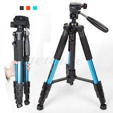 Zomei Q111 Aluminum Alloy Travel Tripod + Pan Head Stand f Camera Camcorder Blue