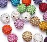 50Pcs Crystal Rhinestone Pave Clay Disco Ball Loose Spacer Beads Making DIY 10MM